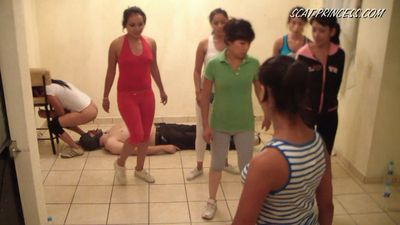 The aerobic lesson with a toilet slave!